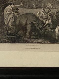 Elephant Capture Engraving England Circa 1820 - 1655260