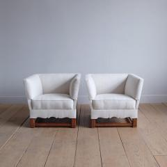 Elias Barup Rare Pair of Chairs from The Spanish Set by Elias Barup - 1196092