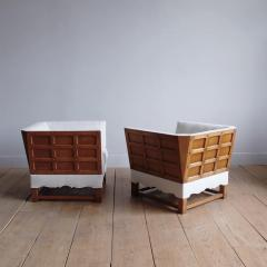 Elias Barup Rare Pair of Chairs from The Spanish Set by Elias Barup - 1196093
