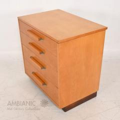 Eliel Saarinen Eliel Saarinen Short Blonde Birch Dresser Classic Art Deco Johnson Co 1940s - 1542874