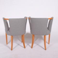 Eliel Saarinen Eliel Saarinen pair of arm chairs 1941 for Imperial Rattan Co  - 1093184