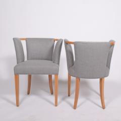 Eliel Saarinen Eliel Saarinen pair of arm chairs 1941 for Imperial Rattan Co  - 1093185