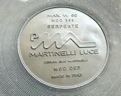 Elio Martinelli Pair of Serpente Lamps White 1970s - 285625