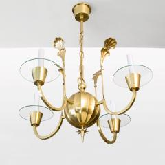 Elis Bergh 4 ARM CHANDELIER BY ELIS BERGH FOR C G HALLBERG - 722932