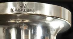 Elis Bergh A Swedish Crystal and Silvered Metal Lantern Chandelier - 350794