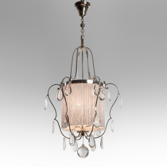 Elis Bergh A Swedish Silvered and Glass Lantern Chandelier - 37803