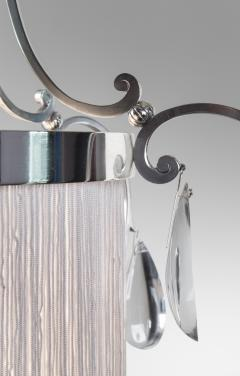 Elis Bergh A Swedish Silvered and Glass Lantern Chandelier - 37804
