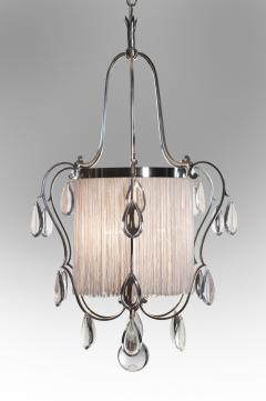 Elis Bergh A Swedish Silvered and Glass Lantern Chandelier - 37806