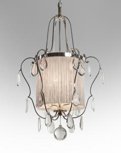 Elis Bergh A Swedish Silvered and Glass Lantern Chandelier - 37807