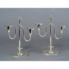 Elis Bergh Pair of Swedish Candlesticks 1920s - 840311