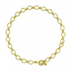 Elizabeth Locke Elizabeth Locke Hammered Oval Link Necklace - 1426301