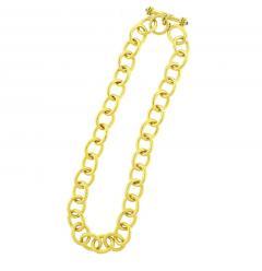 Elizabeth Locke Elizabeth Locke Hammered Volterra Link Necklace - 1159855