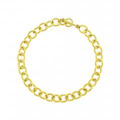 Elizabeth Locke Elizabeth Locke Hammered Volterra Link Necklace - 1159954