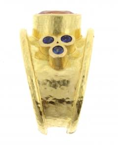 Elizabeth Locke Elizabeth Locke Pink Spinel Sapphire Gold Ring - 425084