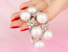 Ella Gafter Australian White South Sea Pearl and Diamond Bracelet - 1009652