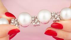 Ella Gafter Australian White South Sea Pearl and Diamond Bracelet - 1009656