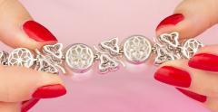 Ella Gafter Australian White South Sea Pearl and Diamond Bracelet - 1009660