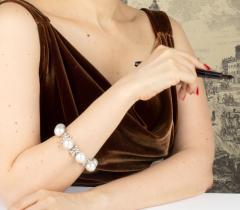 Ella Gafter Australian White South Sea Pearl and Diamond Bracelet - 1009661