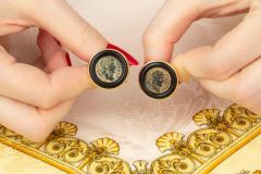 Ella Gafter Ella Gafter Antique Copper Coin Cufflinks Yellow Gold - 1030026