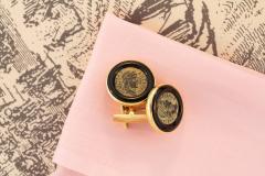 Ella Gafter Ella Gafter Antique Copper Coin Cufflinks Yellow Gold - 1030028