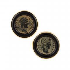 Ella Gafter Ella Gafter Antique Copper Coin Cufflinks Yellow Gold - 1030184