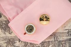 Ella Gafter Ella Gafter Antique Copper Coin Cufflinks Yellow Gold - 1030123