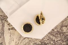 Ella Gafter Ella Gafter Antique Copper Coin Cufflinks Yellow Gold Diamonds - 1029222