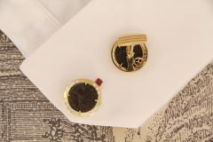 Ella Gafter Ella Gafter Antique Copper Coin Cufflinks Yellow Gold Diamonds - 1029225
