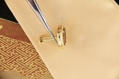 Ella Gafter Ella Gafter Antique Copper Coin Cufflinks Yellow Gold Diamonds - 1029226