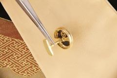 Ella Gafter Ella Gafter Antique Copper Coin Cufflinks Yellow Gold Diamonds - 1029227