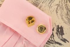 Ella Gafter Ella Gafter Antique Copper Coin Cufflinks Yellow Gold Diamonds - 1030064