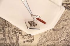 Ella Gafter Ella Gafter Antique Silver Coin Cufflinks Diamonds White Gold - 1030180