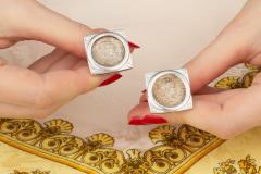 Ella Gafter Ella Gafter Antique Silver Coin Cufflinks Diamonds White Gold - 1030181