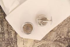 Ella Gafter Ella Gafter Antique Silver Coin Cufflinks White Gold - 1030141