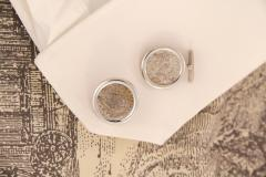 Ella Gafter Ella Gafter Antique Silver Coin Cufflinks White Gold - 1030142