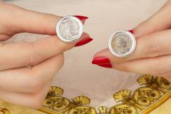 Ella Gafter Ella Gafter Antique Silver Coin Cufflinks White Gold - 1030147
