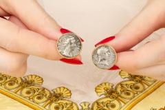 Ella Gafter Ella Gafter Antique Silver Coin Cufflinks Yellow Gold - 1030171