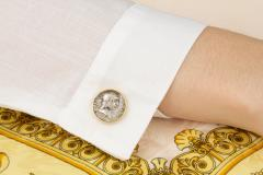 Ella Gafter Ella Gafter Antique Silver Coin Cufflinks Yellow Gold - 1030172