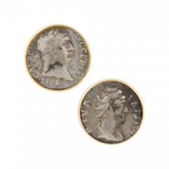 Ella Gafter Ella Gafter Antique Silver Coin Cufflinks Yellow Gold - 1030200