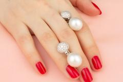 Ella Gafter Ella Gafter Australian South Sea Pearl Diamond Earrings - 1189456