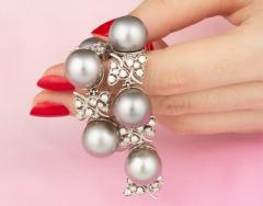 Ella Gafter Ella Gafter Black Tahitian Pearl and Diamond Bracelet - 1009698