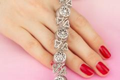 Ella Gafter Ella Gafter Black Tahitian Pearl and Diamond Bracelet - 1009702