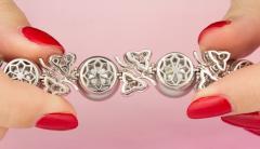 Ella Gafter Ella Gafter Black Tahitian Pearl and Diamond Bracelet - 1009705