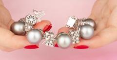 Ella Gafter Ella Gafter Black Tahitian Pearl and Diamond Bracelet - 1009707