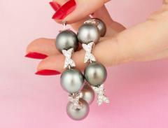 Ella Gafter Ella Gafter Black Tahitian Pearl and Diamond Bracelet - 1009758