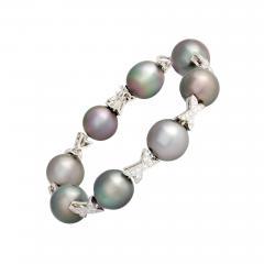 Ella Gafter Ella Gafter Black Tahitian Pearl and Diamond Bracelet - 1011208