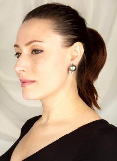 Ella Gafter Ella Gafter Black Tahitian Pearl and Diamond Clip On Earrings - 1142003