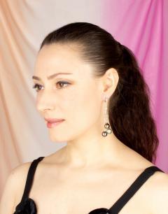 Ella Gafter Ella Gafter Black Tahitian Pearl and Diamond Drop Earrings - 1142042
