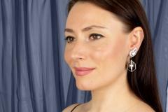Ella Gafter Ella Gafter Black Tahitian Pearl and Diamond Drop Earrings - 1187581