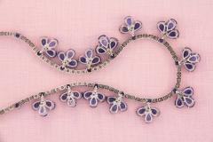 Ella Gafter Ella Gafter Blue Ceylon Sapphire Diamond Flower Necklace and Earrings Set - 1160731